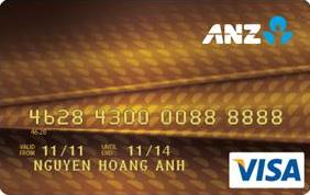 Thẻ tín dụng ANZ visa vàng