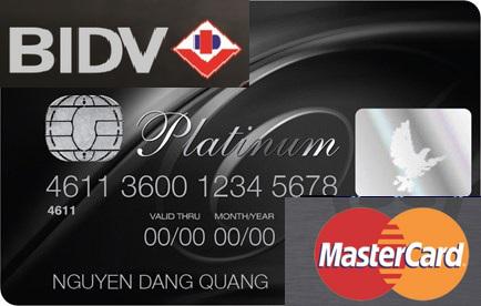 thẻ tín dụng BIDV Mastercard Platinum