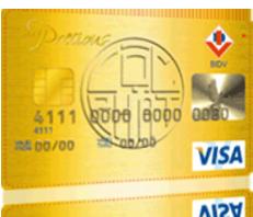 thẻ tín dụng BIDV Visa Precious