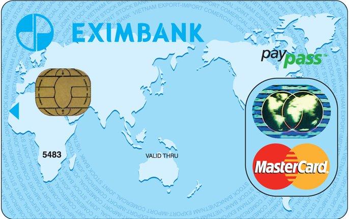 Thẻ tín dụng Eximbank Mastercard PayPass