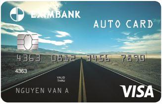 Thẻ tín dụng quốc tế Eximbank Visa Auto Card