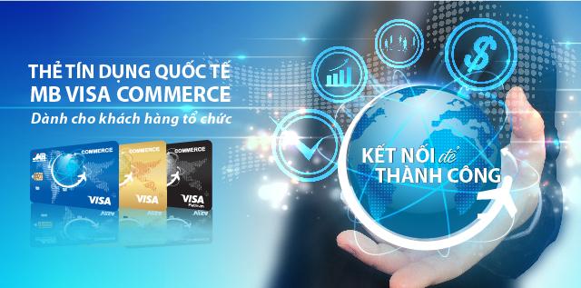 Thẻ tín dụng MB bank Visa Commerce