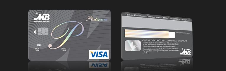 Thẻ tín dụng MB bank Visa Platinum