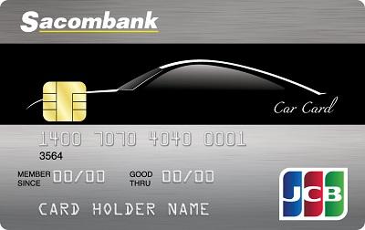 thẻ tín dụng Sacombank JCB car card