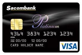 thẻ tín dụng Sacombank visa platinum