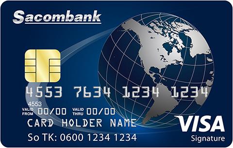 thẻ tín dụng Sacombank visa signature