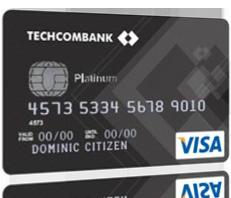 Thẻ tín dụng techcombank Visa Platinum