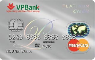 Thẻ tín dụng VPbank Mastercard Platinum