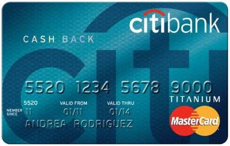 Thẻ tín dụng Citi bank Cash Back