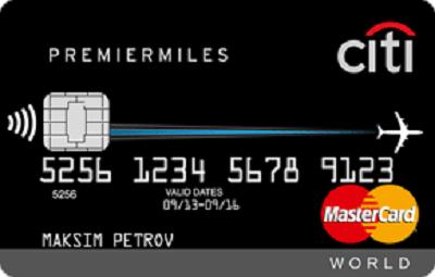Thẻ tín dụng Citi PremierMiles Word MasterCard