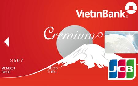 thẻ tín dụng Vietinbank Cremium JCB