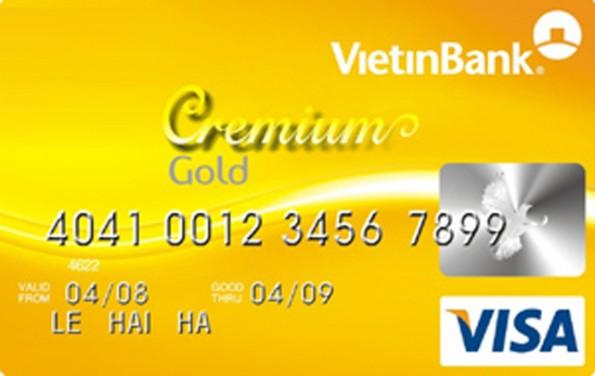 thẻ tín dụng Vietinbank Cremium Visa
