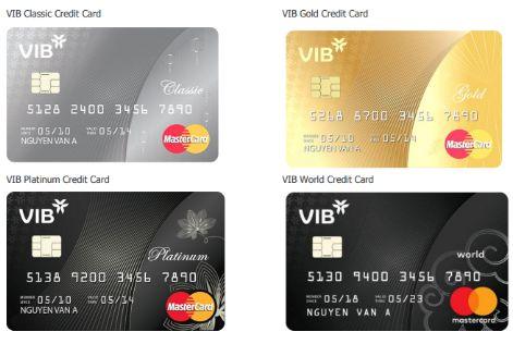 Thông tin mức phí thẻ tín dụng VIB