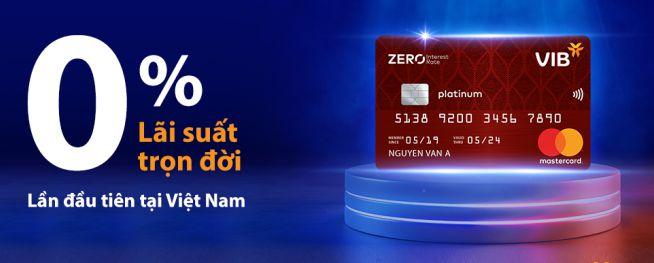Thẻ tín dụng VIB Zero Interest Rate